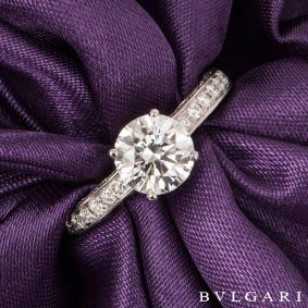 Bvlgari Platinum Diamond Dedicata A Venezia Ring 1.50ct D/VS2
